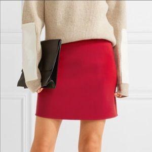 Theory Red mini wool skirt. Size 2